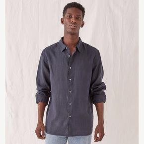 assembly label - casual long sleeve shirt - true navy