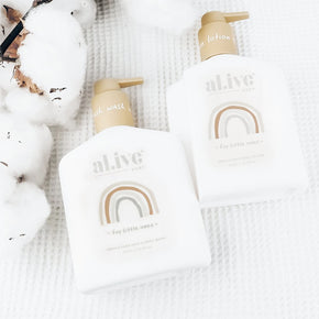 al.ive body -  baby duo (hair/body wash & lotion + tray - gentle pear)