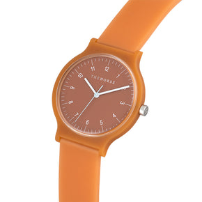 the horse watch blockout - terracotta rust