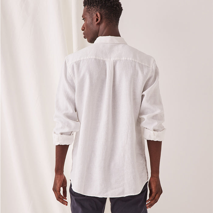 assembly label - casual long sleeve shirt - white