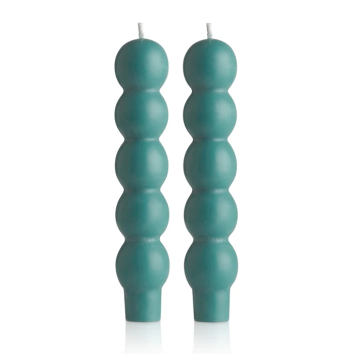 maison balzac candle - 2 volute teal