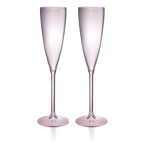 maison balzac champagne flute set of 2 - rose