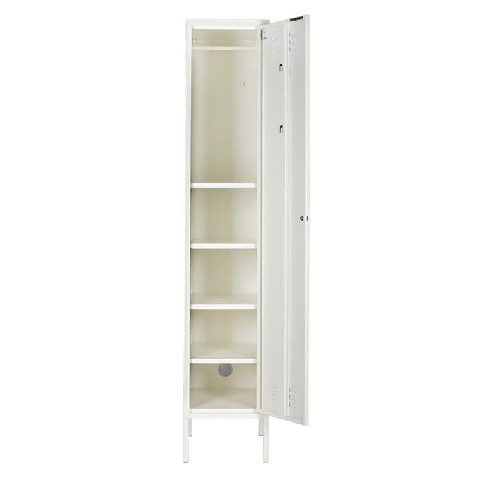 mustard made locker - 'the skinny' white