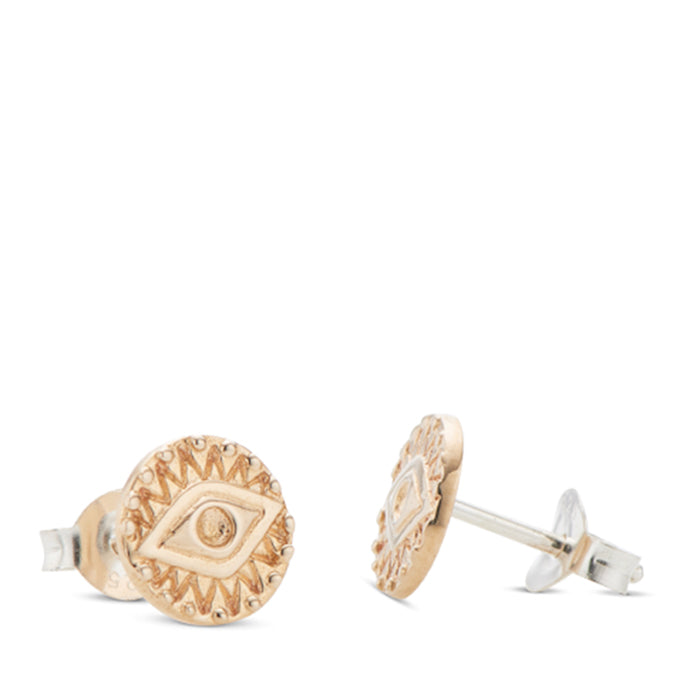 palas jewellery - evil eye stud earrings