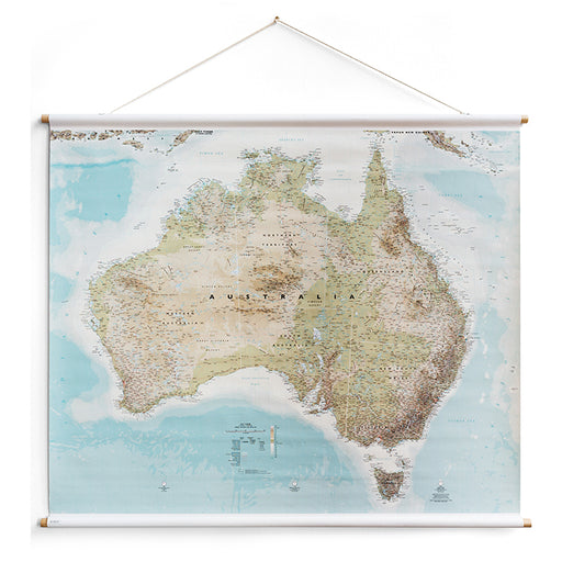milligram studio - australia canvas map