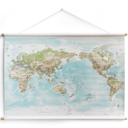 milligram studio - world canvas map