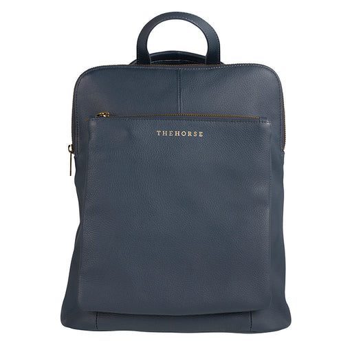 the horse - backpack - navy leather