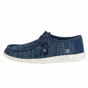 Wally Sox Perforated Blue Grey
