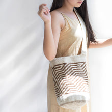 colombian mochila bag white and brown