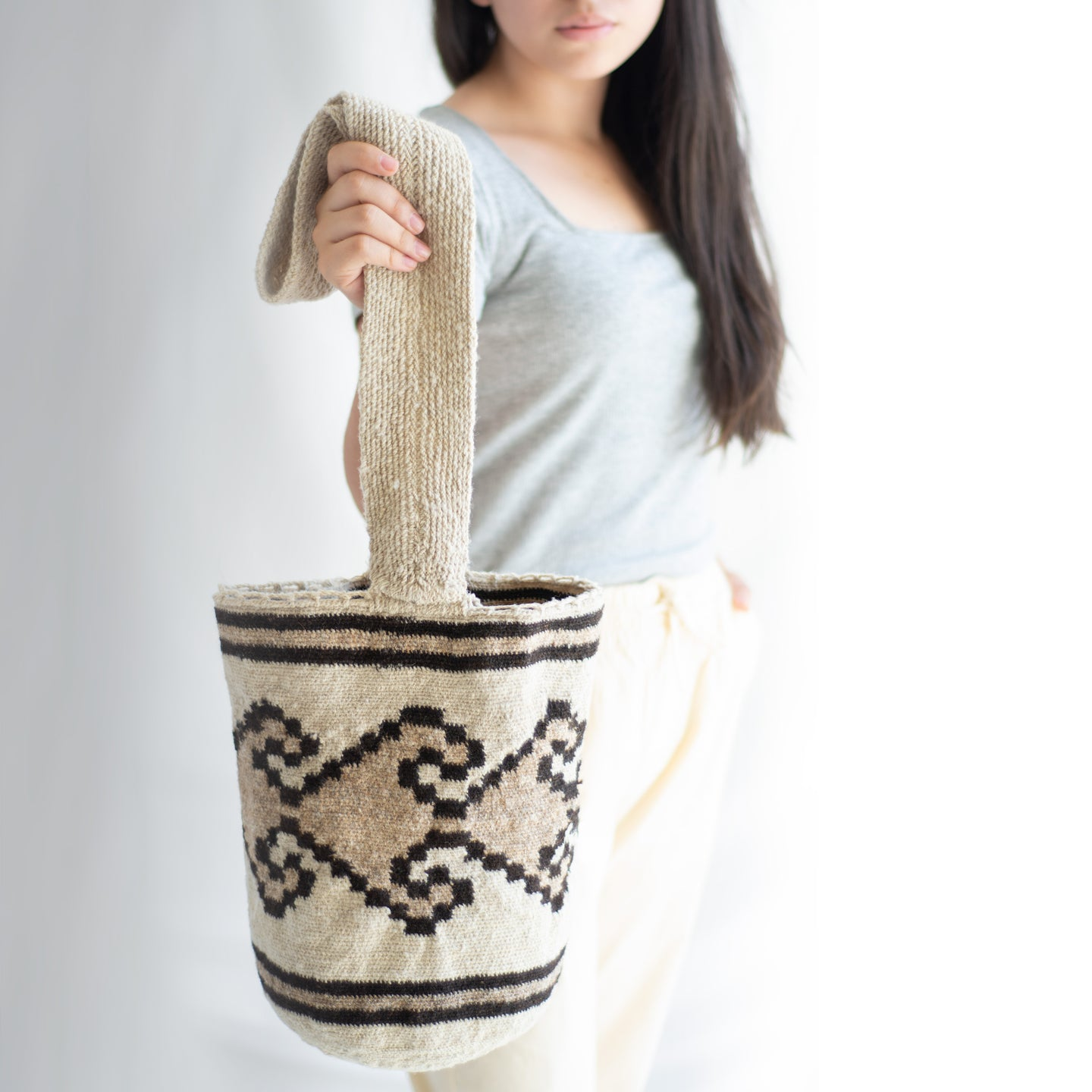 Wool Colombian mochila bag.