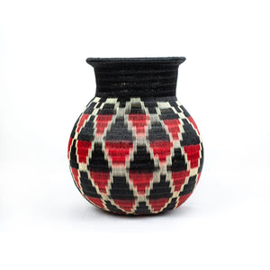 black and red werregue basket