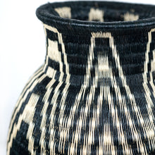 zig zag black and white basket vase