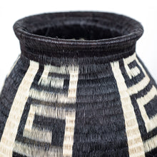black and white colombian basket