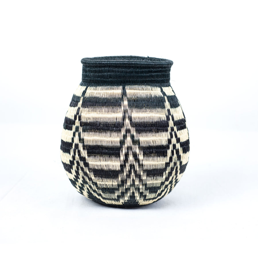 decorative basket made from colombian palm