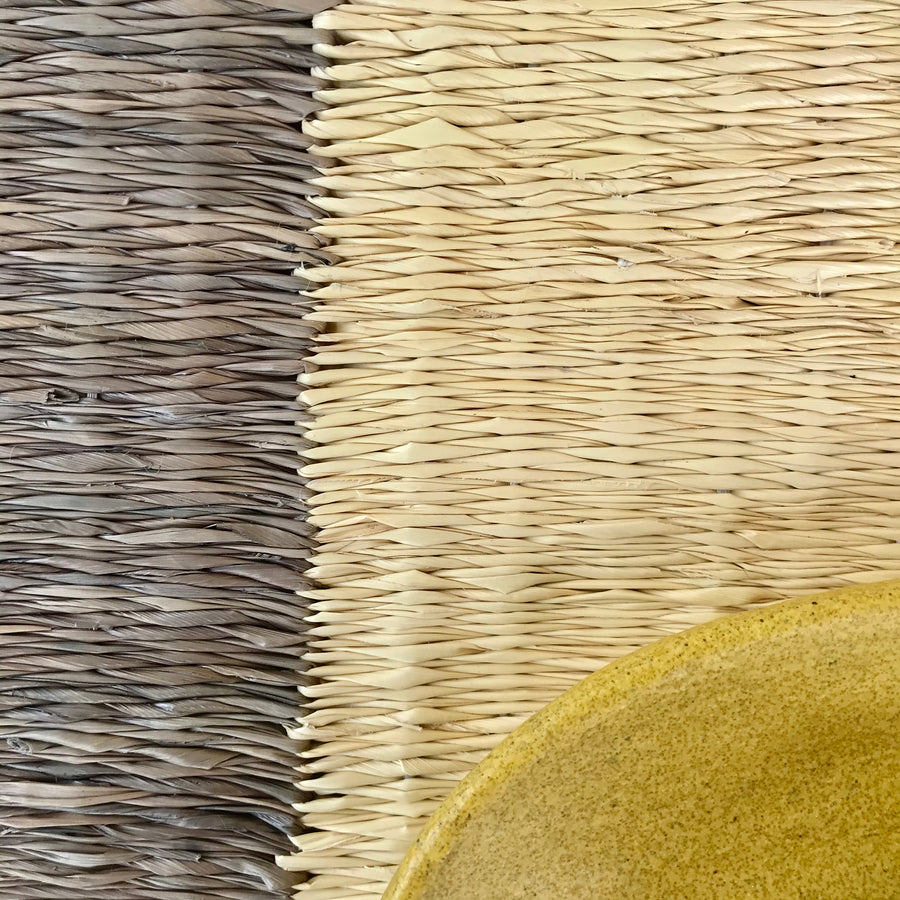 RAYA PALM PLACEMATS - natural/grey