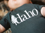 Idaho Tree Logo Charcoal Onesie