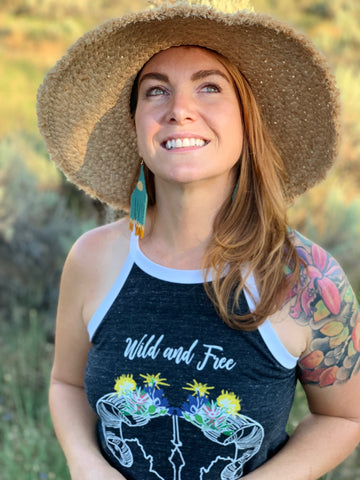 Idaho Boho Ram High Neck Tank