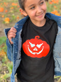 Idaho Glow-in-the-Dark Pumpkin Jack-O-Lantern Kids Tee