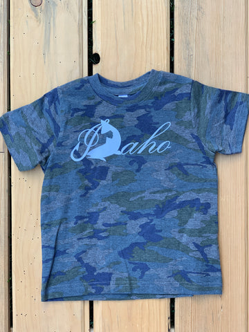 Kids Camo Idaho Fish Tee