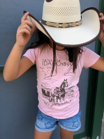 Celebrate Idaho 1890 Appaloosa Girls Tee
