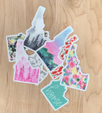 Idaho Watercolor Sticker Collection