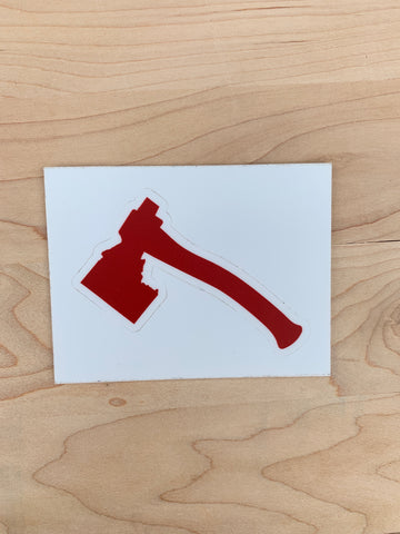Iron Pine Brand Idaho Axe Sticker