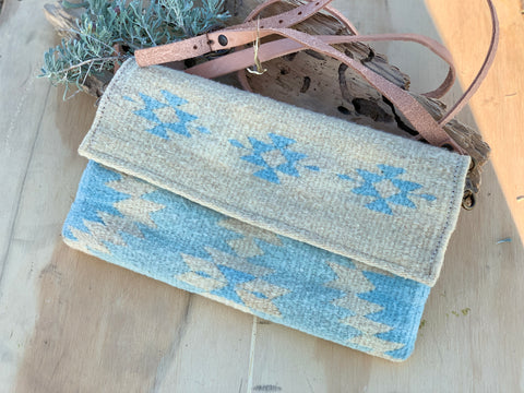 Southwest Blue Crossbody Tote
