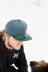 Iron Pine Camo Leather Patch Snapback