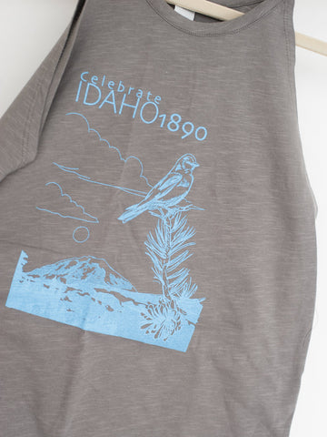 Celebrate Idaho 1890 Mountain Bluebird Ladies Tank