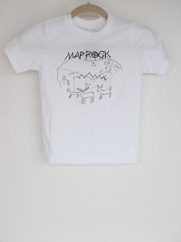 Map Rock Idaho Petroglyph Kids Tee