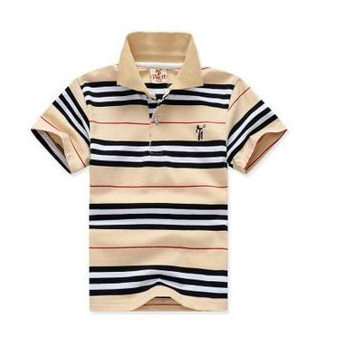 Shorts Sleeve Summer Kids Cotton Stripe Boys Clothes.