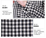 4xl plus big size blusas feminina 2016 new korean spring autumn women long plaid shirt female A1774