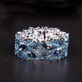 Crystal Cuff Bracelets Bangles Big Stretch Bangle for Women Bracelet.