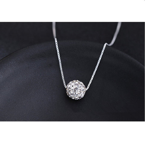 Top Quality Silver Classic Female Short Design Ball Bhain Elegant Anti-Allergic Necklace.