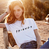 100% cotton friends tv tee shirt femme womens shirts.