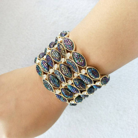 Bohemia Style Vintage Crystal Alloy Bracelets & Bangles Trendy Jewelry for Girls.