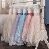 Girls Long Princess Dress Party Wedding Dress.