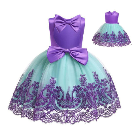 Girl First Birthday Party Dress Toddler Princess Carnival Kids Dresses.