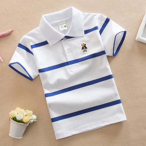 Baby Boy Summer Top Tshirt Color Stripes.