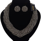 New Bohemian Beads Statement Necklaces Earrings Jewelry Set .