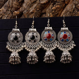 Indian Jhumka Small Bells Oil Drop Tassel Earrings for Women.