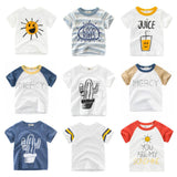 2019 New Boys T-shirt Kids Basic T Shirts Cartoon Cactus Top Tees Children Sport Clothing Baby Boy Design Shirts For 2-8 Years