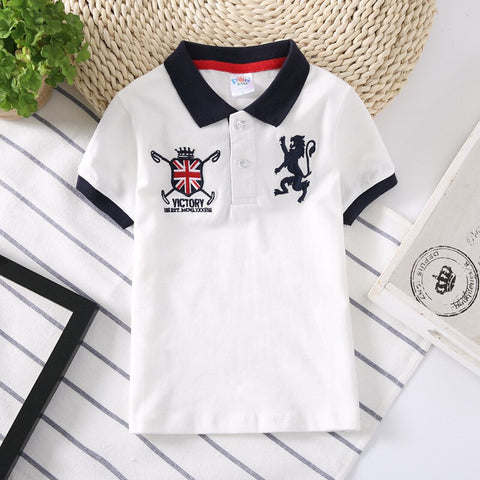 Boys Collar Polo Shirt Tops
