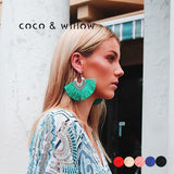 Coco&willow Ethical Antique Silver Tassel Earrings Big Fringe Boho Earrings For Women Handmade Ethnic Earrings Fashion Jewelry