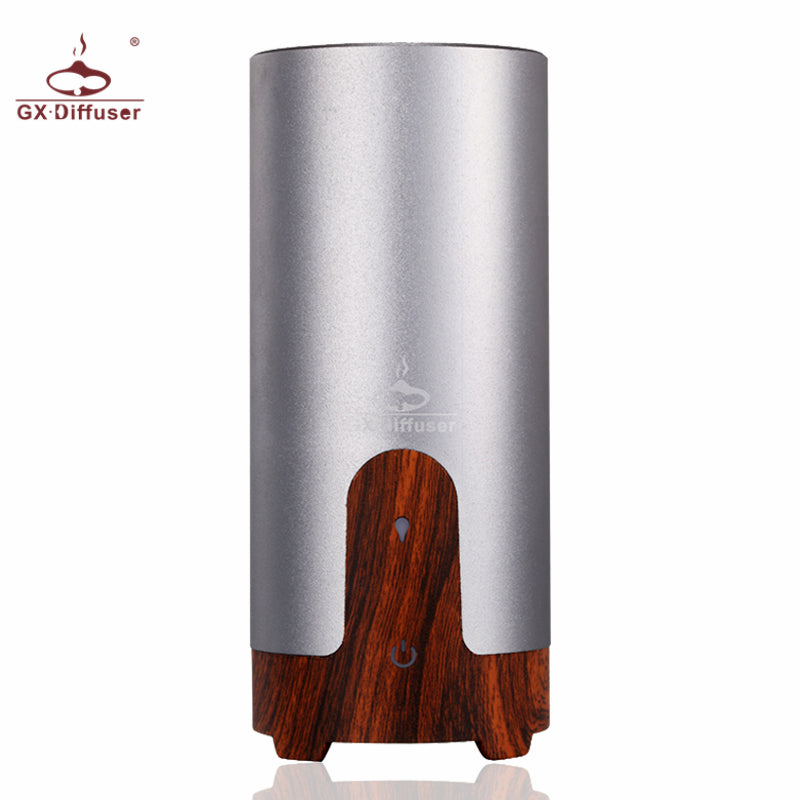 Round Wood and Metal Plugin or USB Diffuser