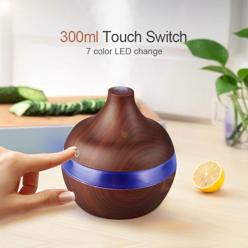 Chocolate Drop Wood Look 300ml Aromatherapy Diffuser