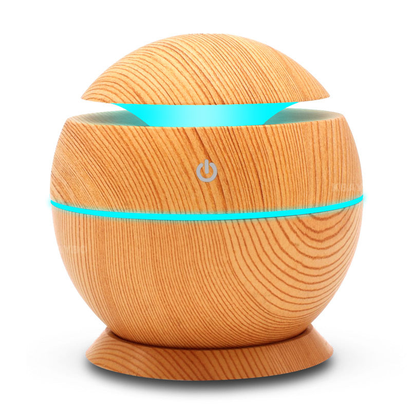 Wood Grain 7 Color LED Light Essential Oil Aroma Diffuser