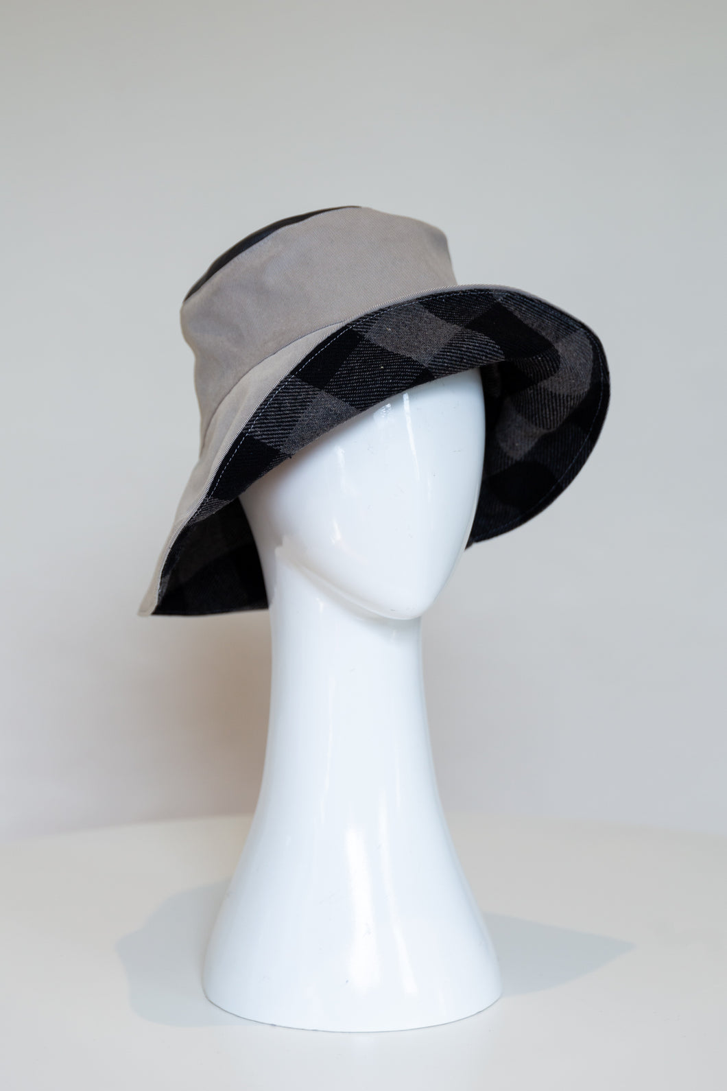Bucket Rain Hat -Grey by Felicity Northeast Millinery