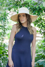 Load image into Gallery viewer, Natural panama Fedora  by Felicity Northeast Millinery