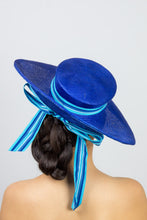 Load image into Gallery viewer, RACHAEL- Cobalt blue large brimmed hat